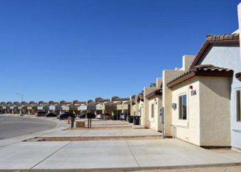 The Las Brisas Apartments in San Luis, AZ, a 60-unit apartment complex for seniors and chronically homeless individuals